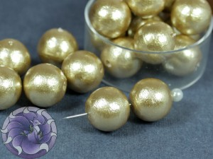 Хлопковый жемчуг Cotton Pearls 12mm Бежевый Beige Japan