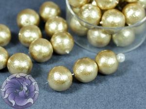 Хлопковый жемчуг Cotton Pearls 10mm Бежевый Beige Japan