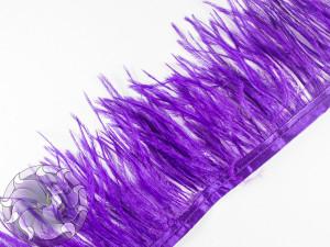 Лента из перьев страуса 8-10см цвет Фиолетовая