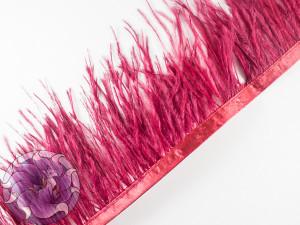 Лента из перьев страуса 8-10см цвет Бордо