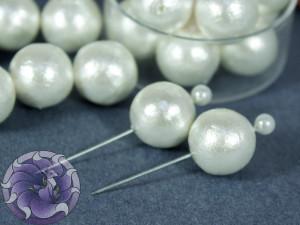 Хлопковый жемчуг Cotton Pearls 18mm Белый White Japan