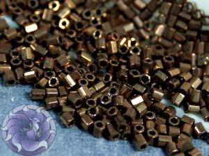 Бисер 5г Miyuki 11/0 Cut Metallic Dark Bronze
