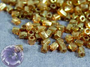 Бисер 5г Miyuki 10/0 Twisted Hex Cut Bead Topaz Gold Luster