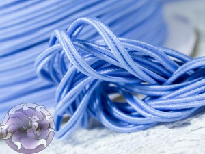 Сутажный шнур Япония матовый 3мм цвет Голубой