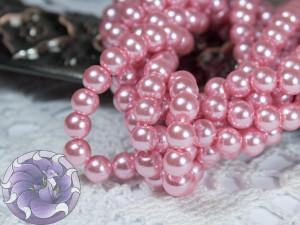 Жемчуг стеклянный 3мм 136-138шт цвет Розовый