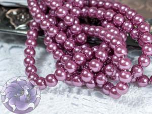 Жемчуг стеклянный 6мм 72шт цвет Фиолетовый