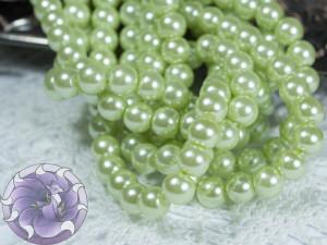 Жемчуг стеклянный 6мм 72шт цвет Салатовый