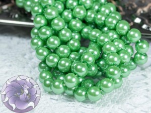 Жемчуг стеклянный 6мм 72шт цвет Зелёный