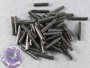 Стеклярус #5 12mm Gunmetal Винтажный Тайвань