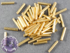 Стеклярус #5 12mm Gold Silverlined Винтажный Тайвань