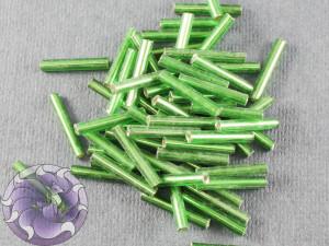 Стеклярус #5 12mm Green Silverlined Винтажный Тайвань