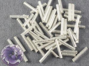 Стеклярус #5 12mm Silver Silverlined Винтажный Тайвань