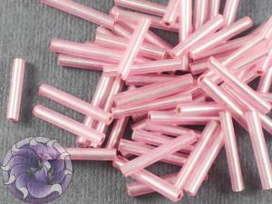 Стеклярус #5 12mm Pink Винтажный Тайвань