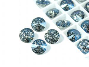 Риволи 12мм цвет Metallic blue patina
