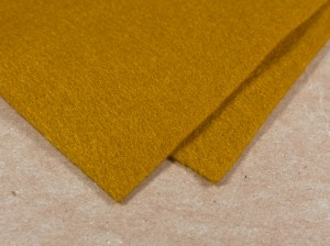 Мягкий фетр А4 20х30см Цвет горчичный