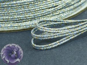 Сутаж металлический Япония 3мм МИКС золото и серебро