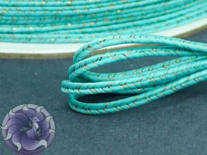 Сутаж металлический Япония 3мм цвет МИКС двойной голубой с бронзой