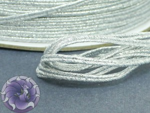 Сутаж металлический Япония 3мм цвет мульти Серебро