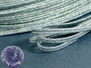 Сутаж металлический Япония 3мм цвет Серебро АБ