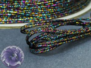 Сутажный шнур металлический Япония 3мм цвет Мульти феерверк