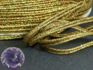 Сутаж металлический Япония 3мм цвет Темное золото АБ