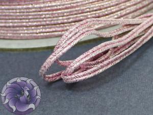 Сутаж металлический Япония 3мм цвет Мульти бледно-розовый