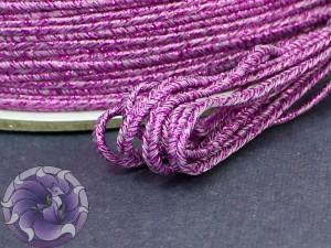 Сутаж металлический Япония 3мм цвет Мульти Фиолетовый