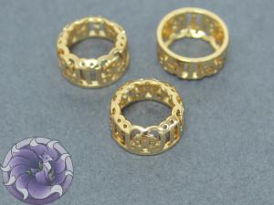 Оправы для кристаллов ажурные 12мм Круглые, цвет золото