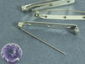 Основа для броши булавка 45,2 мм цвет никель