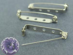 Основа для броши булавка 38,2 мм цвет никель