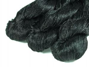 Шелковые нитки для вышивки, мулине шелк черный