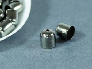 Концевик для шнуров, жгута и кистей 8х9мм цвет Оружейная сталь