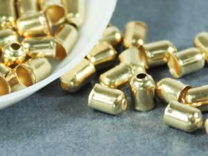 Концевик для шнуров, жгута и кистей 4х5мм цвет Золото