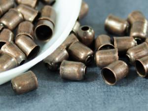Концевик для шнуров, жгута и кистей 4х5мм цвет Медь