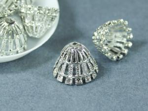 Концевик для шнуров, жгута и кистей остроконечный 13*18мм Цвет серебро
