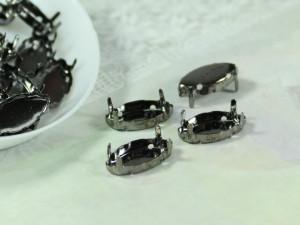 Оправа для кристаллов Лодочка Маркиз 7х15мм цвет черный