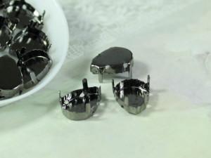Оправы для кристаллов Капля 10х14мм, цвет черный