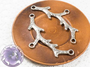 Коннектор для украшений 79х39 цвет Античное Серебро