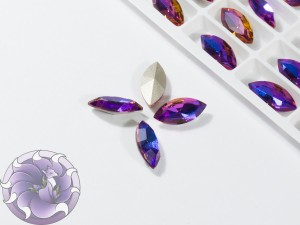 Кристалл Маркиз 15х7мм цвет Violet Blue
