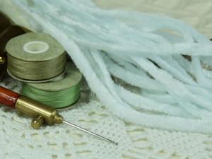 Синель плоская Испания Велюр №23 4мм бледно голубой