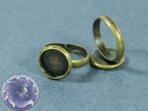 Основа для кольца регулируемая для кабошона 10мм Цвет бронза