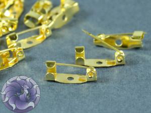 Основы для брошек булавка 15*4мм Цвет золото