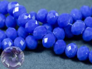 Рондели 8мм нить 34-36шт Цвет матовый синий