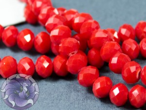 Рондели 8мм нить 34-36шт Цвет матовый красный