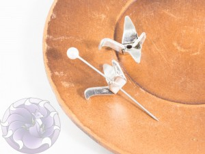 Шапочка-корона для бусин 21х16х8мм цвет Античное Серебро