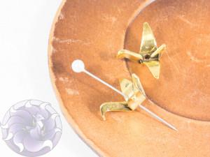 Шапочка-корона для бусин 21х16х8мм цвет Античное Золото