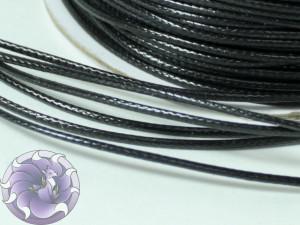 Шнур вощенный плетеный 1мм Черный