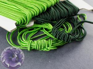 Итальянский сутажный шнур 3мм Зеленый изумруд