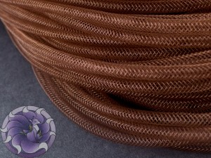 Трубчатый регилин 4мм, Цвет Коричневый