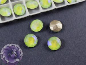 Кристалл круглый 12мм цвет Лимонная карамелька